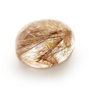 ルチルクォーツ 小 針水晶 オーバルカット ルース 裸石 金運 勝負運 天然石 パワーストーン|amegare