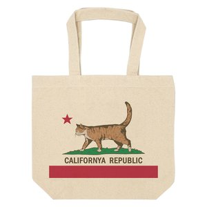 キャンバス トートバッグ カリフォルニャリパブリック 猫 ネコ A4|amegare