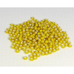 ■ホワイトハーツビーズ チェコ産 ガラス素材 丸5mm(※側面ではなく直径です) 外径 5mm(±0...