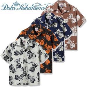 DUKE KAHANAMOKU デューク・カハナモク コットンアロハシャツ「DUKE'S PINEAPPLE」DK37811サンサーフ SUNSURF|amekajishop-klax-on