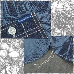 北斗の拳×倉敷天領デニムTENRYO DENIM コラボザコ柄ワークシャツ(ザコシャツ)「HOKUTO-ZK」|amekajishop-klax-on|05