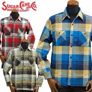 シュガーケーンSUGARCANE ツイルチェックワークシャツ「SC27387」/東洋エンタープライズ/メンズ/アメカジ/