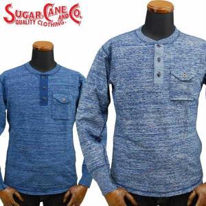 シュガーケーン SUGAR CANE FICTION ROMANCE 4本針インディゴクルーネックTシャツ 4NEEDLES INDIGO CREW NECK T-SHIRT「SC68349」 amekajishop-klax-on