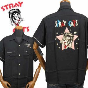 スタイルアイズSTYLE EYES ストレイキャッツSTRAY CATS 半袖レーヨンボウリングシャツ SE38204|amekajishop-klax-on