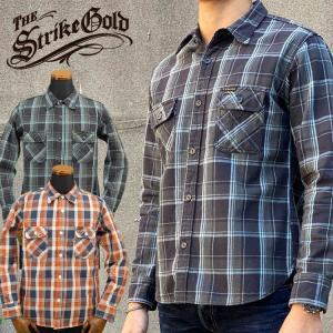 ストライクゴールド THE STRIKE GOLD ヘビーネルチェックワークシャツ HEAVY NEL CHECK WORK SHIRTS「SGS1902」 amekajishop-klax-on
