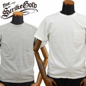 ストライクゴールド THE STRIKEGOLD オリジナル吊り編み ポケット付きTシャツ「SGT2007」 amekajishop-klax-on