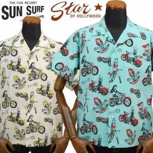 サンサーフ SUNSURF スターオブハリウッドSTAR OF HOLLY WOOD × VINCE RAY ブロードコットンオープンシャツ「THE WILDCAT GIRLS」SH38376|amekajishop-klax-on