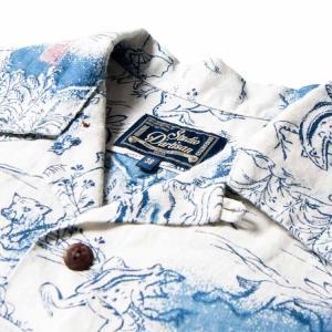 ステュディオ・ダ・ルチザンSTUDIO D'ARTISAN 40thインディゴアロハシャツ【SP-036】|amekajishop-klax-on|02