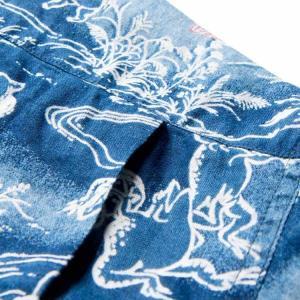 ステュディオ・ダ・ルチザンSTUDIO D'ARTISAN 40thインディゴアロハシャツ【SP-036】|amekajishop-klax-on|07