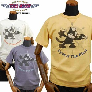 トイズマッコイ TOYS McCOY ミリタリーTシャツ FELIX THE CAT「Eyes of The Fleet」TMC2020|amekajishop-klax-on