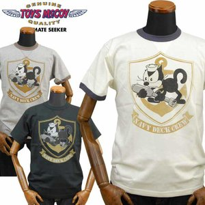 トイズマッコイ TOYS McCOY ミリタリーTシャツ FELIX THE CAT「NAVY DECK CREW」TMC2021|amekajishop-klax-on