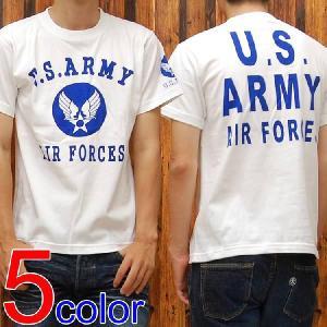 ミリタリーTシャツ「U.S.ARMY AIR FORCES(U.S.A.A.F.)」◆アメカジ/メンズ◆|amekajishop-klax-on
