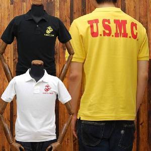 ミリタリー鹿の子ポロシャツ「U.S.MARINE CORPS(U.S.M.C.)」◆アメカジ/メンズ◆|amekajishop-klax-on