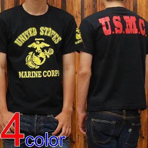 ミリタリーTシャツ「U.S.MARINE CORPS(U.S.M.C.)」◆アメカジ/メンズ◆|amekajishop-klax-on