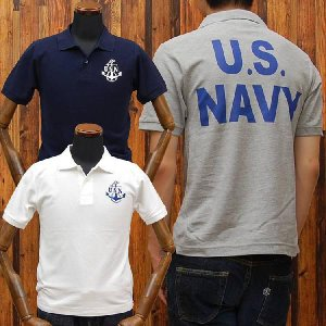 ミリタリー鹿の子ポロシャツ「U.S.NAVY(U.S.N.)」◆アメカジ/メンズ◆|amekajishop-klax-on