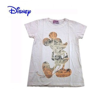 Disney Vintage ディズニー・ビンテージ レディース半袖カットソー Tシャツ ミッキーマウス MC アイボリー(M) (13時までの注文は当日発送 土日祝日は除く)|america-direct