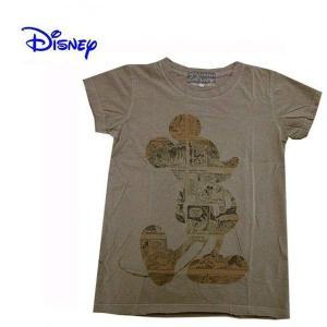 Disney Vintage ディズニー・ビンテージ レディース半袖カットソー Tシャツ ミッキーマウス MC Newspaper モカ (13時までの注文は当日発送 土日祝日は除く)|america-direct