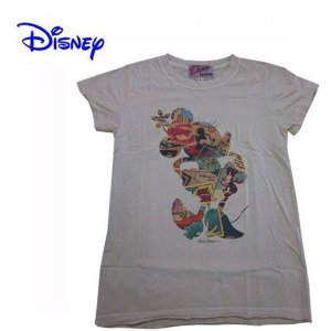 Disney Vintage ディズニー・ビンテージ レディース半袖カットソー Tシャツ ミニー MC Comic Books アイボリー (M) (13時までの注文は当日発送 土日祝日は除く)|america-direct
