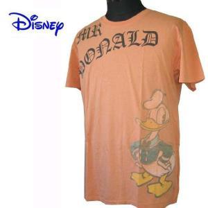 DISNEY VINTAGE ディズニーヴィンテージ Tシャツ 半袖Tシャツ カットソー ドナルドダック メンズ M24D3 オレンジ (13時までの注文は当日発送 土日祝日は除く)|america-direct