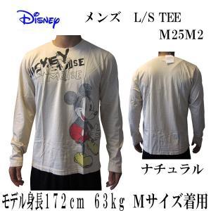 DISNEY VINTAGE(ディズニーヴィンテージ ) メンズ長袖Tシャツ カットソー ロンT ミッキーマウス M25M2・Natural  (13時までの注文は当日発送 土日祝日は除く)|america-direct
