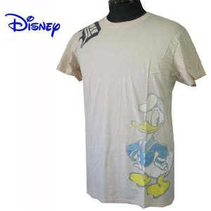 DISNEY VINTAGE(ディズニーヴィンテージ ) メンズ半袖Tシャツ カットソー ドナルドダック M26D1・Natural  (13時までの注文は当日発送 土日祝日は除く)|america-direct