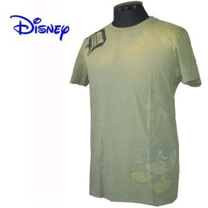 DISNEY VINTAGE(ディズニーヴィンテージ) メンズ半袖Tシャツ カットソー ドナルドダック M26D1 Olive (13時までの注文は当日発送 土日祝日は除く)|america-direct