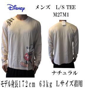 DISNEY VINTAGE(ディズニーヴィンテージ ) メンズ長袖Tシャツ カットソー ロンT ミッキーマウス M27M1・Natural (13時までの注文は当日発送 土日祝日は除く)|america-direct