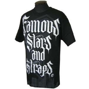 Famous Stars & Straps フェイマススターズ&ストラップス Conguer メンズ半袖Tシャツ カットソー ブラック (13時までの注文は当日発送 土日祝日は除く)|america-direct