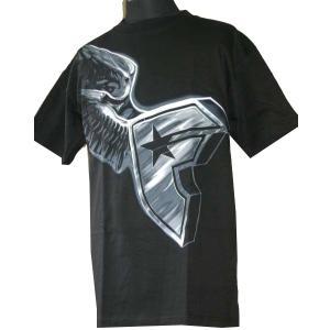 Famous Stars & Straps フェイマススターズ メンズ半袖Tシャツ カットソー Flying Boh ブラック (13時までの注文は当日発送 土日祝日は除く)|america-direct