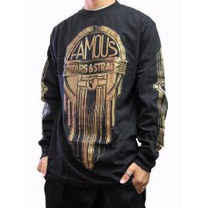 Famous Stars & Straps フェイマススターズ&ストラップス メンズ長袖Tシャツ カットソー ロンT ブラック (13時までの注文は当日発送 土日祝日は除く)|america-direct