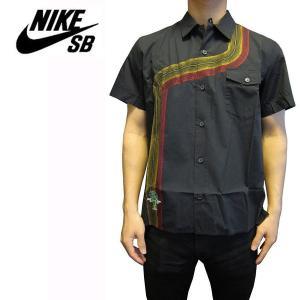 ナイキ NIKE メンズ半袖シャツ カジュアルシャツ Premium NIKE SB Apparel Rayguns S/S Button Up Black (M) (13時までの注文は当日発送 土日祝日は除く)|america-direct