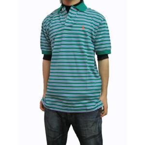 ポロ ラルフローレン POLO RALPH LAUREN メンズ ポロシャツ 半袖 ボーダー POLO Classics 1 グリーンボーダー (13時までの注文は当日発送 土日祝日は除く)|america-direct