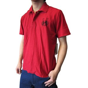 SALVAGE (サルベージ) デストロイド 半袖 メンズポロシャツ Croxteth レッド (13時までの注文は当日発送 土日祝日は除く) america-direct