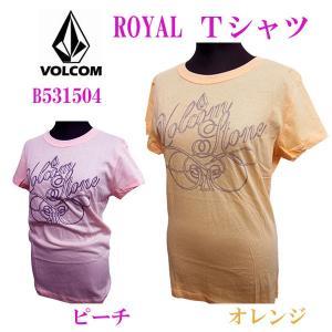 VOLCOM GIRLS (ボルコムガールズ) レディース半袖カットソー Tシャツ Royal S/S TEE. Lサイズ (13時までの注文は当日発送 土日祝日は除く)|america-direct
