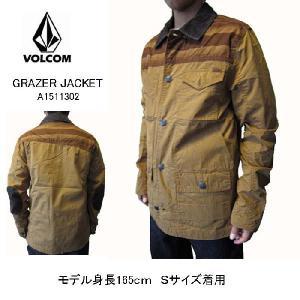 ボルコム VOLCOM メンズ ジャケット ブルゾン ジャンパー 薄手 アウター GRAZER ブラウン (13時までの注文は当日発送 土日祝日は除く)|america-direct