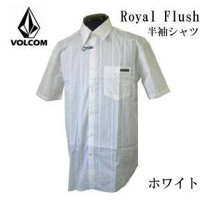 ボルコム VOLCOM メンズ半袖シャツ カジュアルシャツ Royal Flush シロ (13時までの注文は当日発送 土日祝日は除く) america-direct