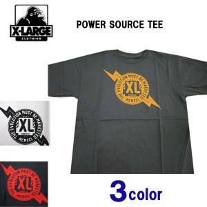 エクストララージ X-LARGE メンズ半袖Tシャツ カットソー POWER SOURCE (13時までの注文は当日発送 土日祝日は除く)|america-direct