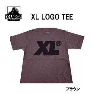 エクストララージ X-LARGE メンズ半袖Tシャツ カットソー XL LOGO TEE ブラウン (13時までの注文は当日発送 土日祝日は除く)|america-direct