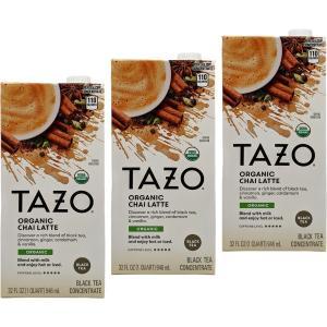 TAZO タゾ ラテドリンクミックス チャイラテ 3個パック