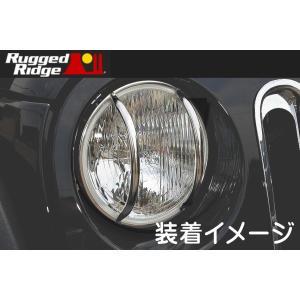 【ヘッドライトユーロガード/ステンレス】ジープ JKラングラー/JKラングラーアンリミテッド 2007-2017年モデル|american-suv