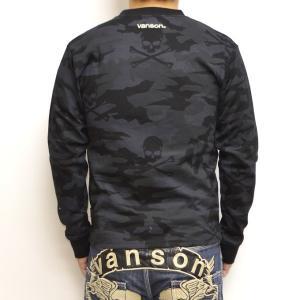 当店別注 限定商品 バンソン VANSON ABV-801 長袖 Tシャツ ブラックカモ色 ロンT|americanbass|02