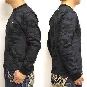 当店別注 限定商品 バンソン VANSON ABV-801 長袖 Tシャツ ブラックカモ色 ロンT|americanbass|03