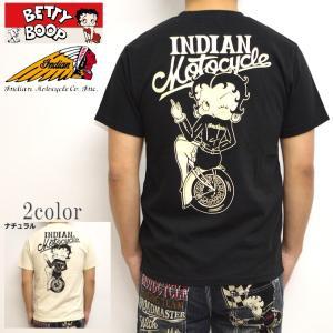インディアンモトサイクル ベティブープ Indian Motocyacle BBI-918 半袖Tシャツ カナダ製 天竺半袖TEE BETTY|americanbass