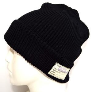 バズリクソンズ BUZZ RICKSONS BR02186 ワッチキャップ ブラック色 コットン Ver ニット帽 帽子|americanbass