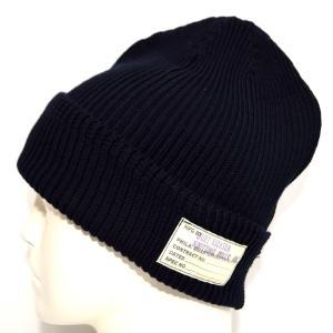 バズリクソンズ BUZZ RICKSONS BR02186 ワッチキャップ ネイビー色 コットン Ver ニット帽 帽子|americanbass