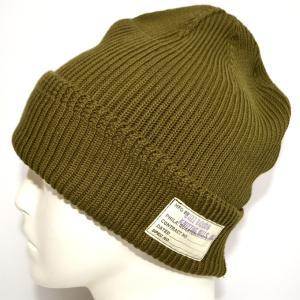バズリクソンズ BUZZ RICKSONS BR02186 ワッチキャップ オリーブ色 コットン Ver ニット帽 帽子|americanbass