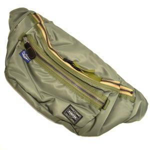 バズリクソンズ ポーター BR02615 ヘビーナイロンツイルウエストバッグ セージグリーン色 財布 BUZZ RICKSONS PORTER 吉田カバン|americanbass