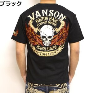 バンソン VANSON NVST-902 半袖Tシャツ 天竺半袖TEE ファイアースカル メンズ|americanbass|09