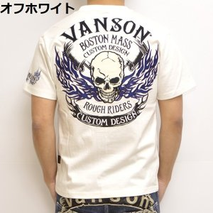 バンソン VANSON NVST-902 半袖Tシャツ 天竺半袖TEE ファイアースカル メンズ|americanbass|10