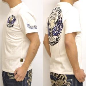 バンソン VANSON NVST-902 半袖Tシャツ 天竺半袖TEE ファイアースカル メンズ|americanbass|06